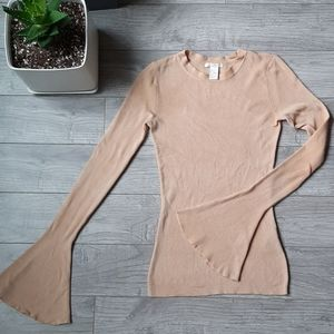 Beautiful Nude H&M Bell Sleeve Top